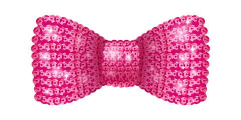 Pink sequins bow tie.