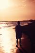 summer holidays man alone at beach