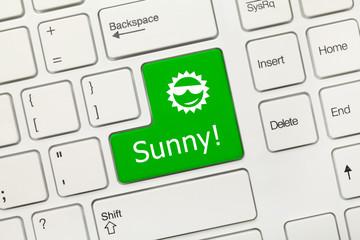 White conceptual keyboard - Sunny (green key)