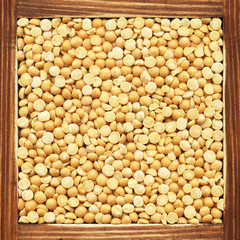 Dried yellow pea, collection of products