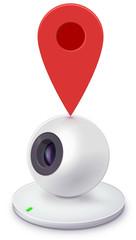 Webcam located