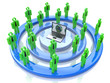 Network or social media concept