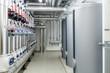 Leinwanddruck Bild - Modern efficient heating system.