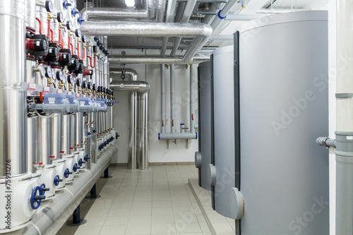 Fotobehang Industrial geb. Modern efficient heating system.
