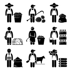 Commodities Food Agricultural Grains Meat Icons