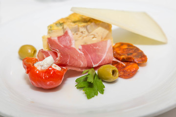 Antipasti Plate with Meats and Cheeses