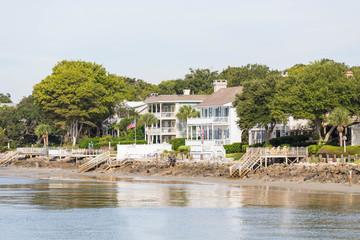 Massive White Beach Homes