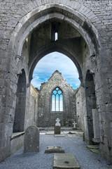 Clarecastle ruins Abbey in Ireland