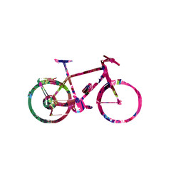 Colorful bicycle design