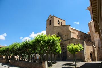 Medieval church in Ujue, Navarre, Spain