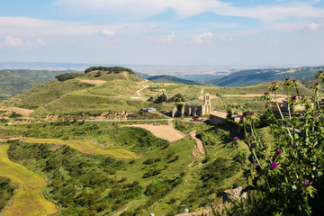Panorama on Ujue, Navarre, Northern Spain