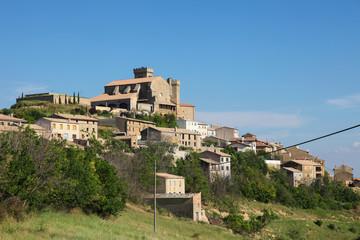 View on Ujue, Navarre, Northern Spain
