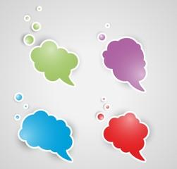 four speak bubbles