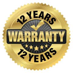 12 years warranty