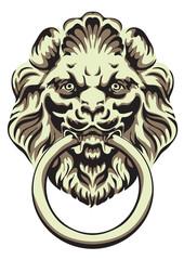 The head of a lion -  door handle.