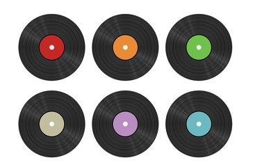 six vinyl discs