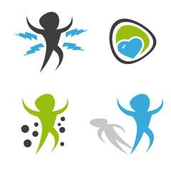 energie person symbol kollektion