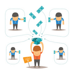 Crowdfunding vector concept