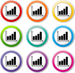 financial graph icons