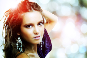 Fashion photo of a young woman