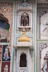 mur décoré d'une Haveli à Fatehpur