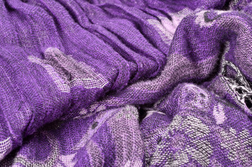 high detail background and cloth textures purple scarf