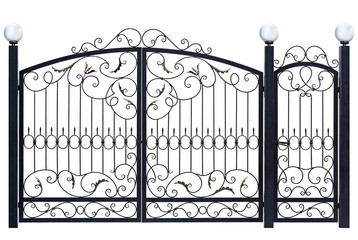 Decorative gate and door.