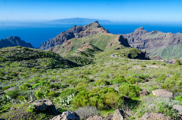 Aussicht auf La Gomera von Teneriffa aus