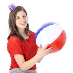 Happy Teen Patriot