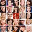 lachende Gesichter - Collage