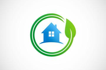 eco house garden logo