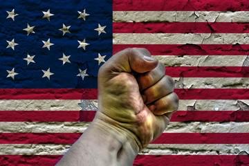 USA revolution concept