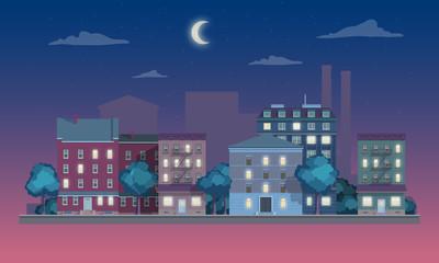 night street houses