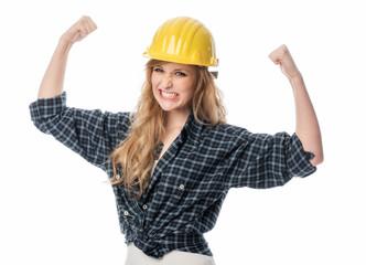 Energischer Handwerker