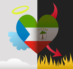 Equatorial angel and devil heart