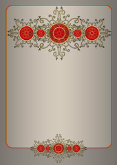Template card or certificate with beautiful ornate pattern