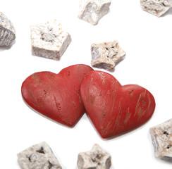 deux coeurs de Saint-Valentin
