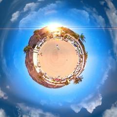 Awesome circular panoramic view of Trieste's coast