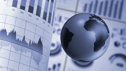 stock market background endless loop