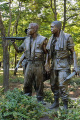 Vietnam war memorial Three Soldiers statues