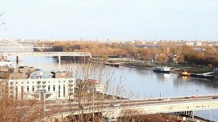 SNP bridge (UFO bridge) in Bratislava