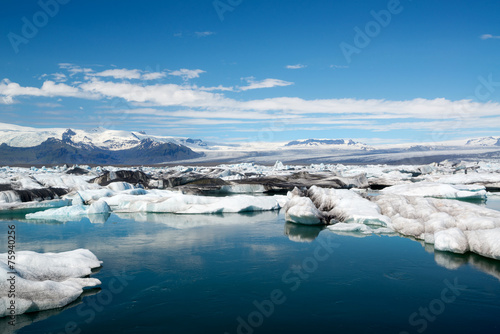 Tuinposter Gletsjers Jokulsarlon
