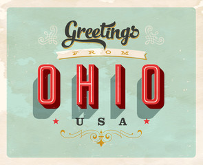 Vintage Touristic Greeting Card - Vector EPS10