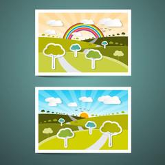 Landscapes Vector Illustrations