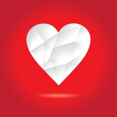 Geometric heart shape