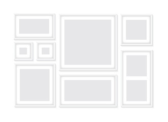 Collection of white frames