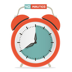 Forty Minutes Stop Watch - Alarm Clock Vector Illustration