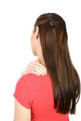 Frau hat Nackenschmerzen,  Studio