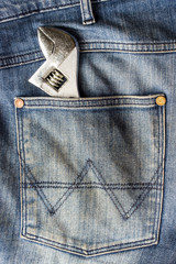 wrench in the  jeans pocket