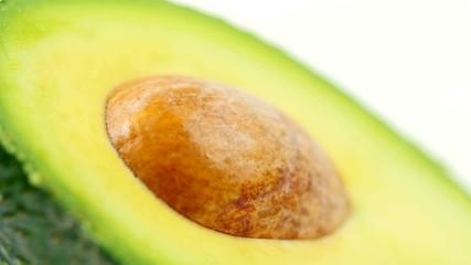 Rotating Avocado on white background